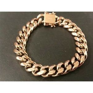 Harlembling 14K Rose Gold Miami Cuban Bracelet